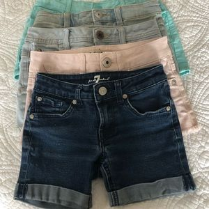 Other - Bundle of Girls shorts, size 7 (and one size 8)